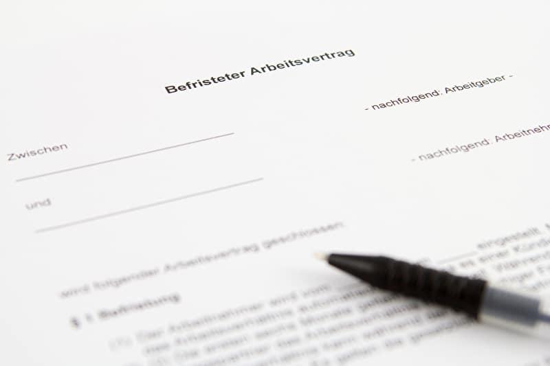 VErlängerung des Arbeitsvertrags